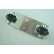 Ролики каретки (2 шт, крепление) для лазерного гравера С180II
